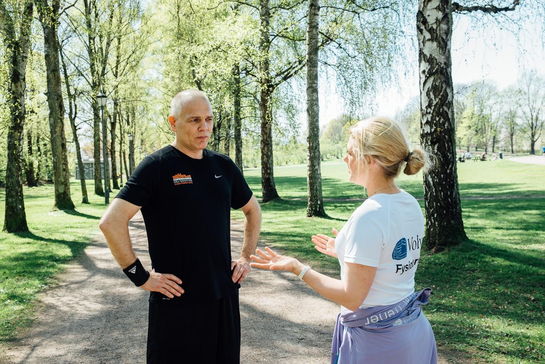 (Møte med fysioterapeut Christine Lundkvist i Volvat, hvor vi jobbet med fart og teknikk).