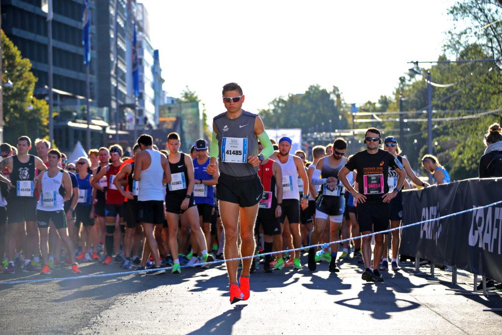Andreas Grøgaard kom på 3.plass under BMW Oslo Maraton